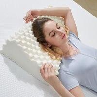 استيراد الطبيعية اللاتكس 60x38x11-13cm الفقرات العنقية التدليك الرعاية الصحية العظام الطبيعية اللاتكس وسادة