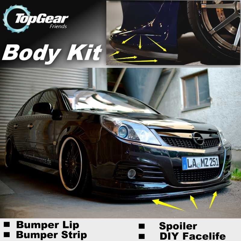 Bumper Lip Deflector Lips For Opel Signum For Vauxhall Signum Front Spoiler Skirt For TopGear Fans to Tuning / Body Kit Strip