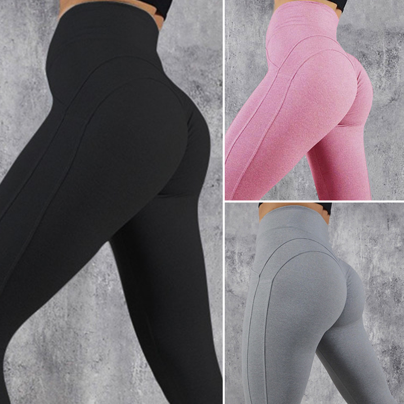 Women Leggings Fashion Fitness Leggings Women High Waist Workout Leggins Solid Patchwork Leggings Mujer Drop Shipping