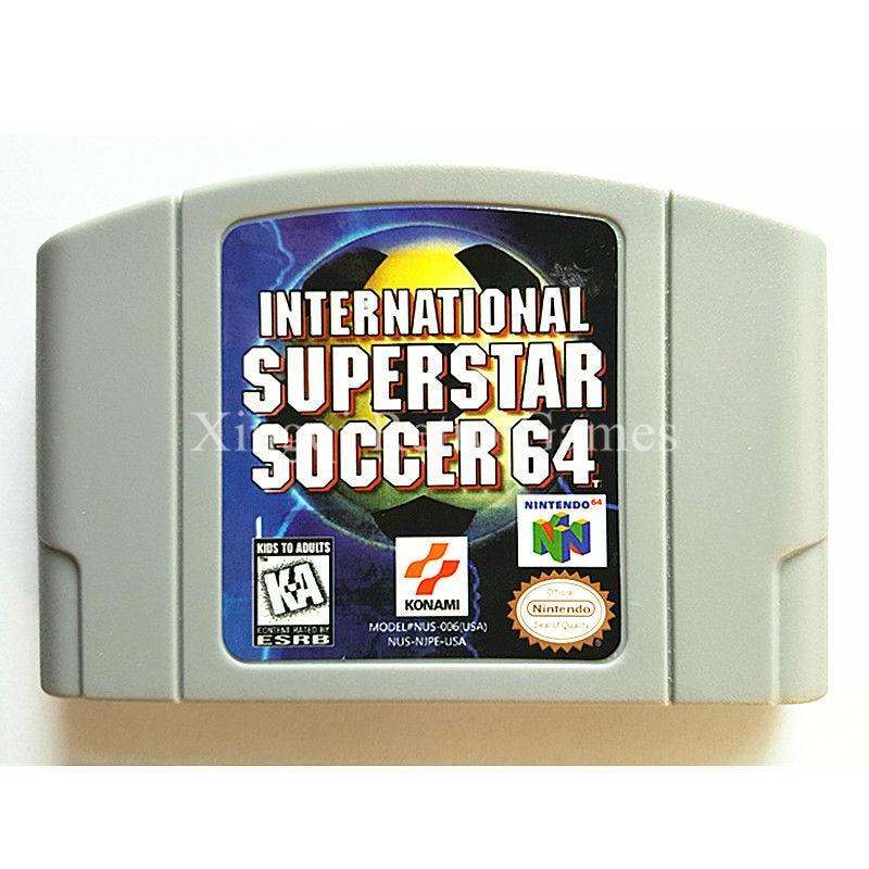 Nintendo N64 Game International Superstar Soccer 64 Video Game Cartridge Console Card English Language US Version