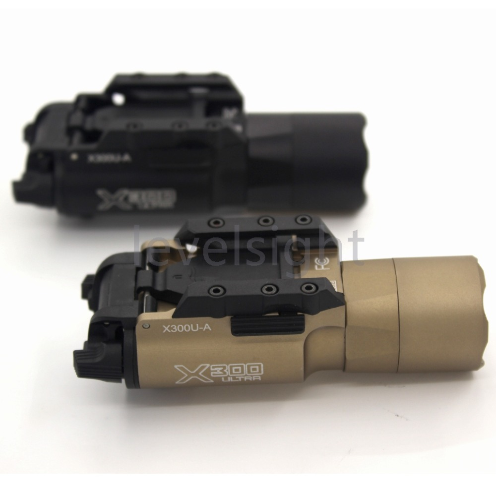 Tactical  X300 U-A Ultra Weapon Light 500 Lumens Universal Picatinny Rail Mount for glock 20mm rail tactical light led weapon light picatinny rail mount shooting hunting sf x300 ultra m7155