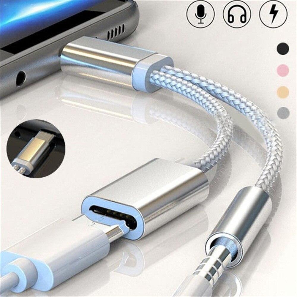 Winkelen Voor Goedkoop Type C Adapter Oplader Audio Kabel 2 In 1 Opladen Tot 3.5 Mm Koptelefoonaansluiting Usb C Converter Voor Xiaomi 6 Samsung Huawei Kortingen Sale