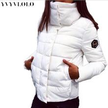Yvyvlolo Новинка 2017 года осень-зима gacket женские пальто мода женский пуховик женские парки повседневные куртки Inverno парка ватные(China (Mainland))