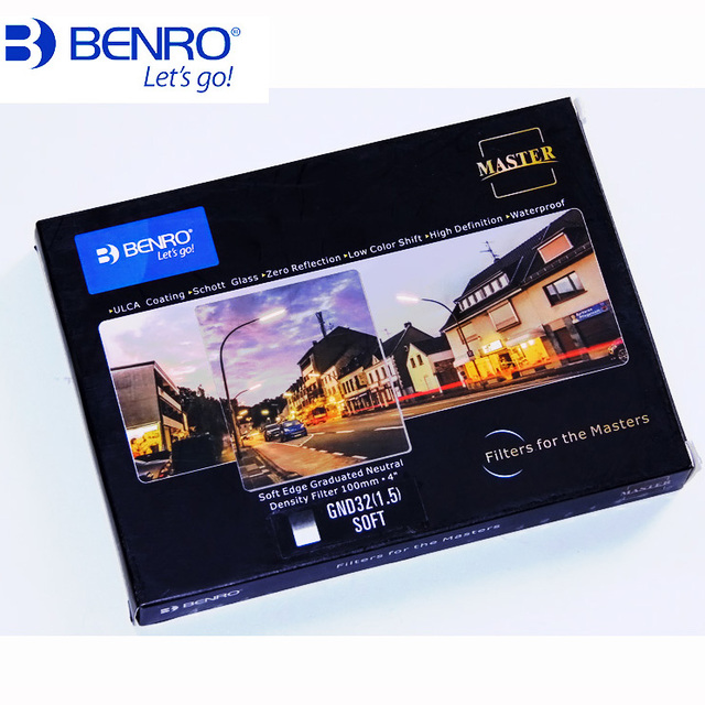 Benro 100x150mm מאסטר כיכר רך GND מסנן GND4 gnd8 gnd16 gnd32 בוגר צפיפות ניטרלי מסנן אופטי זכוכית gnd0.9