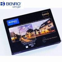Benro 100x150mm 마스터 스퀘어 소프트 gnd 필터 gnd4 gnd8 gnd16 gnd32 졸업 된 중립 밀도 필터 광학 유리 gnd0.9