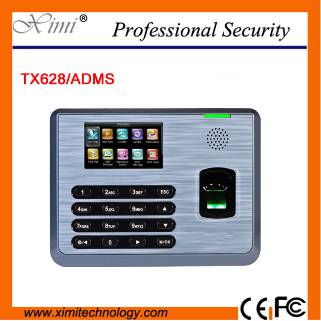 Standalone free sdk tcp/ip TX628 fingerprint reader 3000 user biometric time attendance with ADMS function for WAN network biometric fingerprint access controller tcp ip fingerprint door access control reader