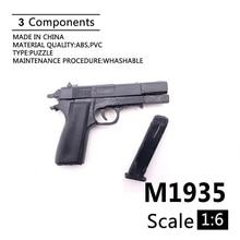 """1:6 M1935 Gun Modell 4D Montieren Modell Für 12 """"Action-figur Kunststoff Schwarz Soldat Waffe Zubehör Spielzeug"""