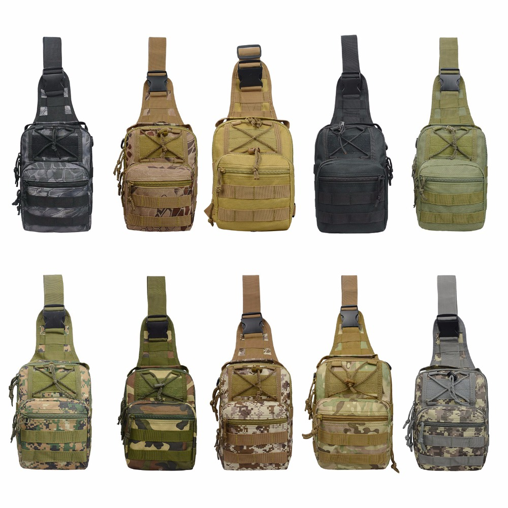 Basic Men Nylon Military Tactical Bag Cross Shoulder Bags for Outdoor Hiking Camping Travel 600D Oxford