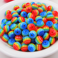 8mm 300pcs Resin diy beads Rainbow colors Stripe 8mm Dia,300PCs for Making necklace bracelet diy craft , for kid gift