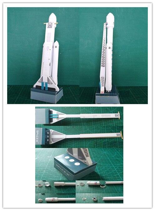 1: 160 Spacex Falcon Heavy-duty Rakete 3d Papier Modell Puzzle Student Hand Klasse Diy Raum Papermodel Origami Spielzeug 42 Cm Ausgezeichnete (In) QualitäT