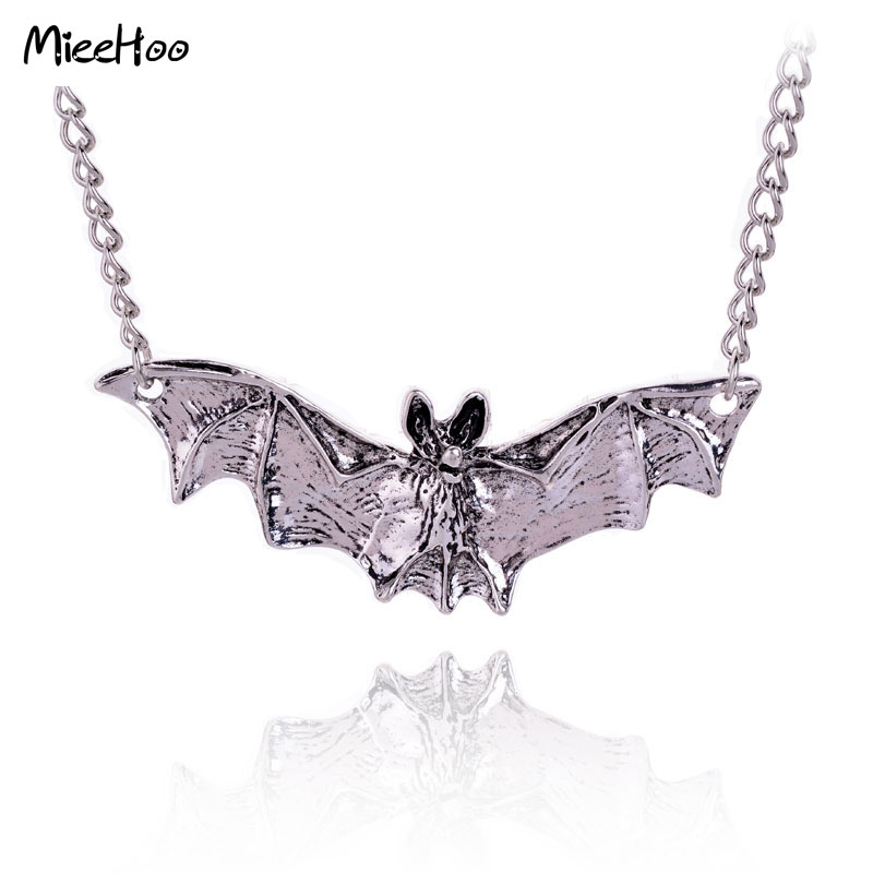Mieehoo New Arrival Gothic Halloween Jewelry Necklace Bat