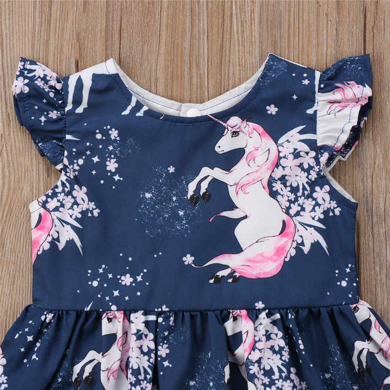 PUDCOCO новые От 1 до 6 лет одежда для малышей с цветочным принтом для девочек, комплект одежды для детей, одежда для девочек платье без рукавов милый костюм От 1 до 6 лет