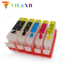 vilaxh BCI 3 BCI6 Refillable Ink Cartridge For Canon bci-3 ink For canon i560 i850 i860 ip4000 IP3000 ip3300 S600 S630 S750 i550 6 color ink cartridge for canon bci 1431 tinta use for canon w6400 w6200 w7250 7250 with chip
