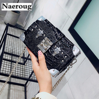 Crocodile Pattern Crossbody Bag For Women Casual Shoulder Bags Women Small Fashion Leather Messenger Bags Lady
