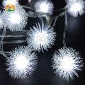 Flocos de 3 M 30LED Feriado Bola De Neve LEVOU Luzes Da Corda Festa de Casamento Do Evento Decoração Iluminações LED de Bateria AA Vacaciones Luces