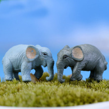 hot deal buy xbj003 artificial 2 pcs elephant fairy garden miniatures gnomes moss terrariums resin crafts figurines for home garden decor