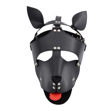 лучшая цена Headgear Dog Exotic Sex Products PU Leather Hood BDSM Mask Bondage Slave In Adult Games Sex Toys for Couples Fetish Flirting