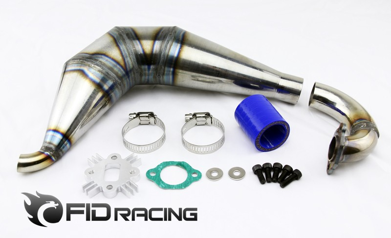 FID DH tuned pipe for 1/5 rear straight bridge dragon hammer ( rc car) tuned pipe for 1 5 fg hobbypro smartech carson and xrc cars