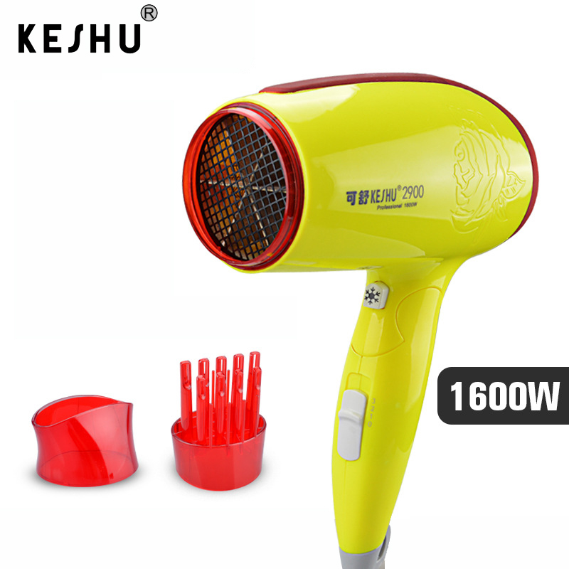 Foldable Hair drying Tools 1600W 220V 50Hz Security Household High-power Hair Dryer for Hotel Electric Blower Cold/hot wind