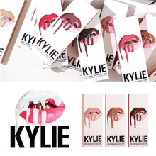 2018 hot new KYLIE matte lipstick+lips pencil makeup lasting