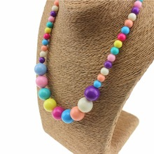 Colorful Candy Colored Bead Necklaces for Girls