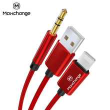 2 in 1 USB Cable For iphone Aux Cable Charger Cable For lightning to 3.5mm Aux Audio Cable Jack Music Adapter Audio Transfer 3 5mm aux cable audio adapter for benz mercedes comand aps ntg audio 20 30 50