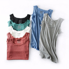 HOT Ribbed summer Fitness Tank Top New T Shirt Plus Size Loose Model Women T-shirt Cotton O-neck Slim Tops Fashion Woman Clothes