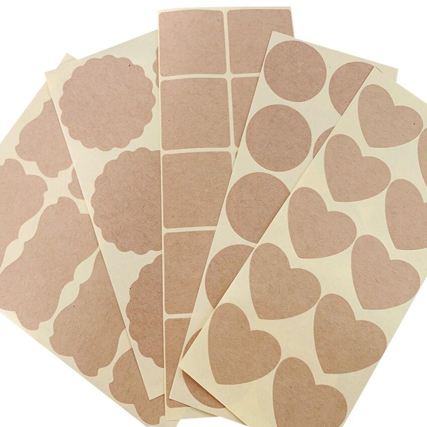 80-120 Pz/lotto Vari Epoca In Bianco Bianco Kraft Etichetta Adesiva FAI DA TE Fatto A Mano Buste Adesivi Regalo di Imballaggio Guarnizioni di Tenuta sticker
