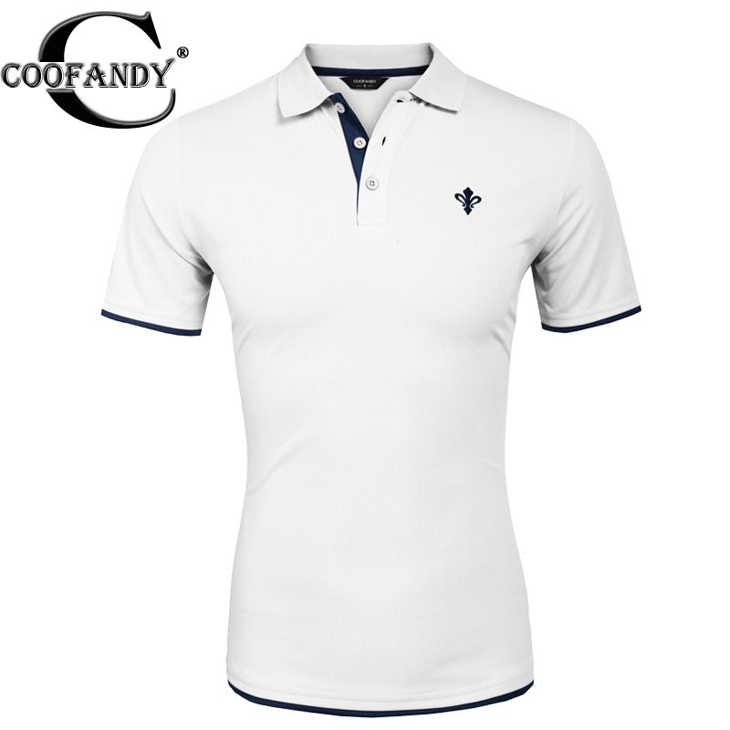 COOFANDY Men s Polo Shirt Turn Down Collar Summer Casual Short Sleeve Slim Contrast Color Polo