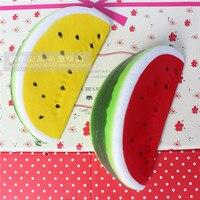 10 Free Shipping 15CM Kawaii Soft Watermelon Squishy Super Slow Rising Queeze Bun Toys Phone