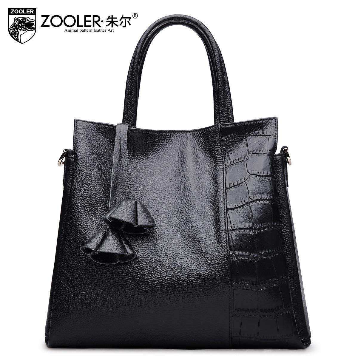ZOOLER Guarantee 100% Genuine Leather Handbag 2017 New Fashion Large Capacity Ladies Business Tote Bags for Women Messenger Bag