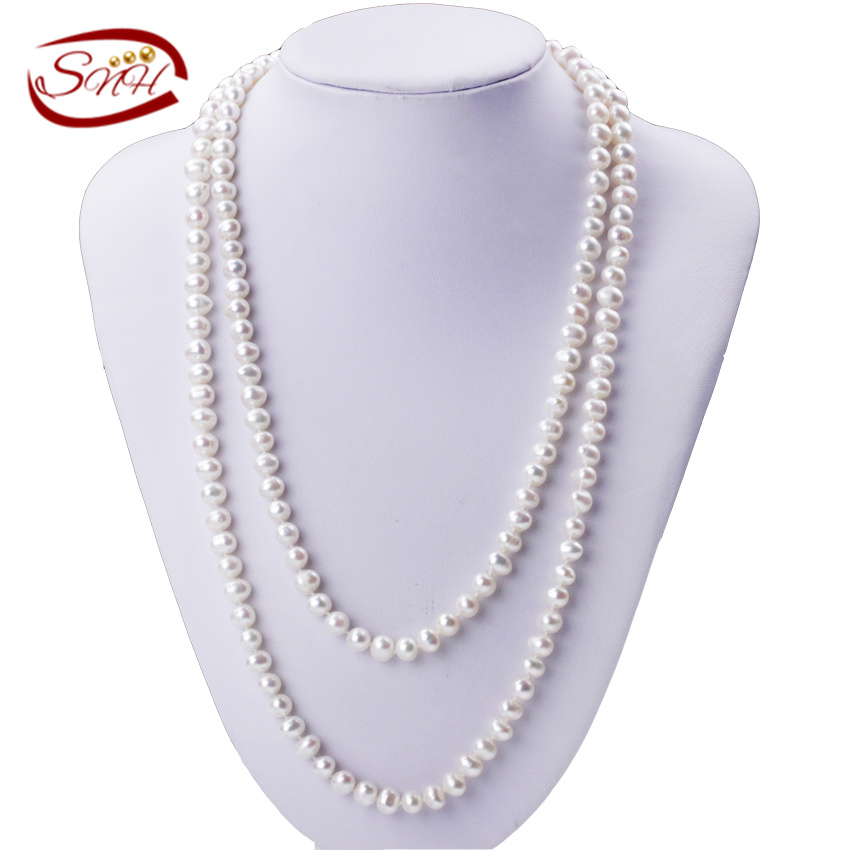 Good Quality Natural Pearl Necklace Jewelry For Women 7mm potato AA Necklaces Jewelry jiuduo jewelry genuine luxury support natural pearl necklace for women beautiful shell necklaces simulated crystal jewelry