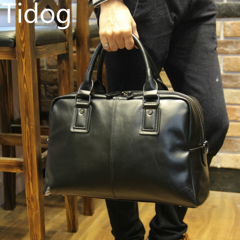 Tidog Briefcases A4 package bag font b handbag b font men s Computer Bag Shoulder Satchel