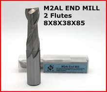 router bit 8*8*38*85 of 2 Flutes HSS M2AL End Mill Diameter 9 mm CNC milling machine tools mills cutter(China)