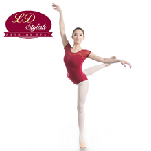 цена на Adult Red Ballet Training Leotards Practice Clothing Stage Performance Competition Dance Skirt Female Dancewear Practice Dresses