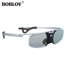 BOBLOV RX 30 3D DLP Link 96 144Hz Active Shutter Glasses 8M Rechargeable For DLP Link Projector