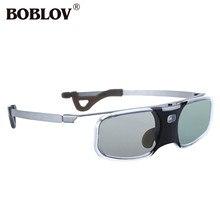 Boblov RX 30 3d dlp link 96 144 hz ativo obturador óculos 8 m recarregável para dlp link projetor