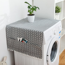 Household  Refrigerator Dust Cover Fashion Geometric Pattern Microwave Oven Covers Dustsheet with Storage Bags