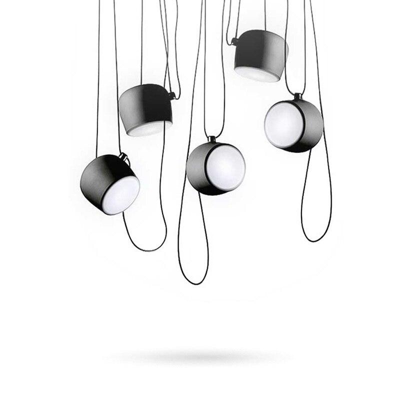 Black White Vintage Pendant Lights Fixtures For Dining Room Industrial Restaurant Bar Deco Home Hanging Lamp Suspension Lustre in Pendant Lights from Lights Lighting