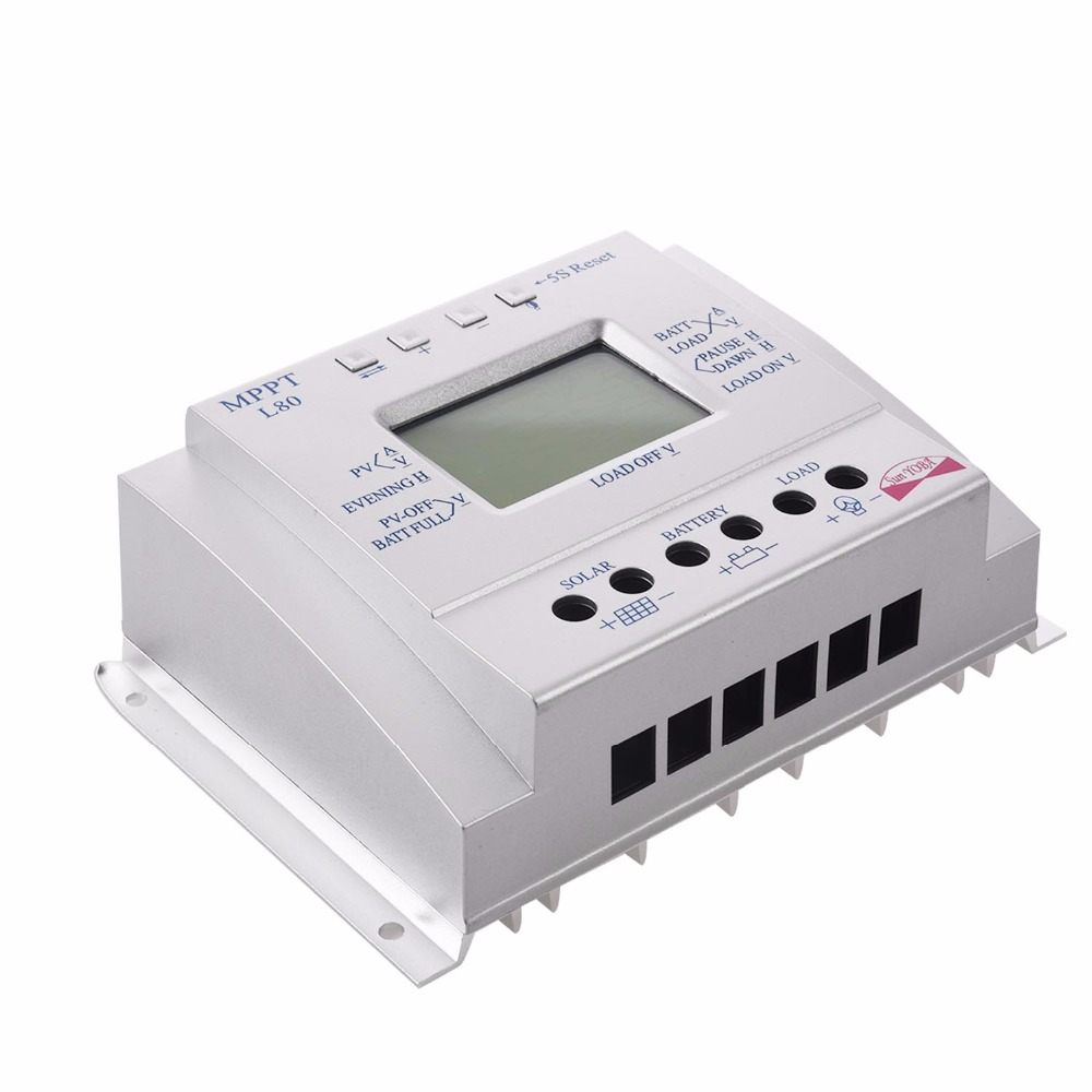Solar Panel Battery Charge Controller 60A 80A MPPT Solar Panel Charge Control 12V 24V Battery Regulator new model 30a mppt solar panel battery regulator charge controller 12v 24v auto