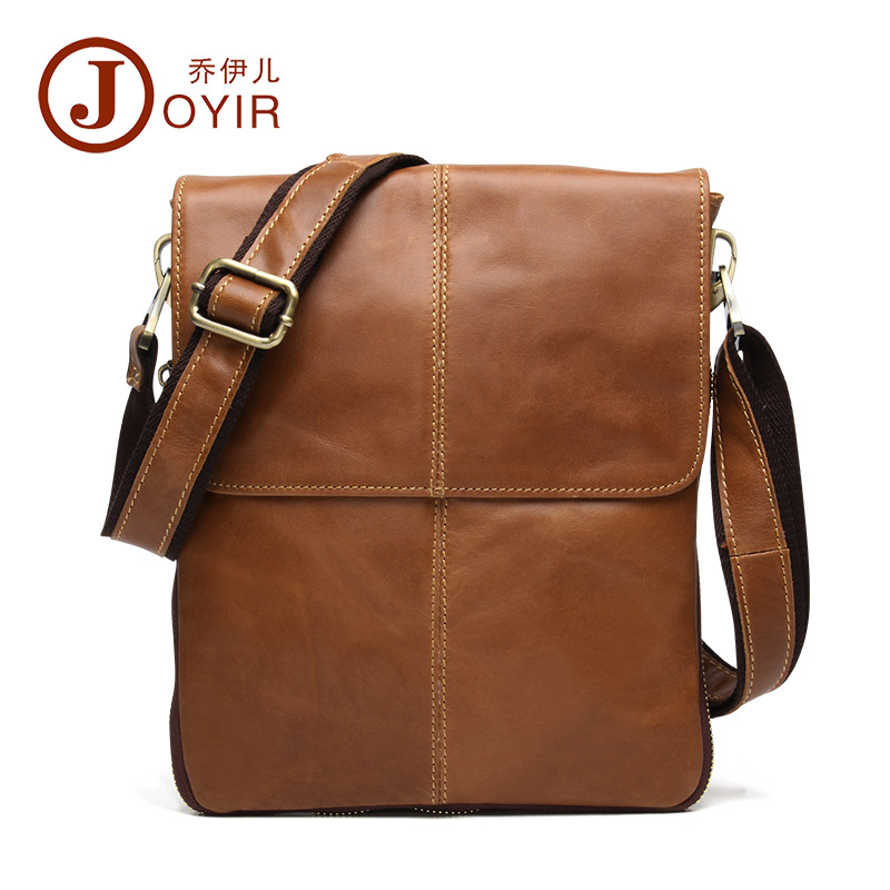 Famous Brand Vintage Cowhide Leather shoulder bags for men Crossbody Bag Men's Travel Business genuine leather briefcase
