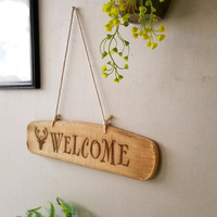 VILEAD 18.5'' Wood Welcome Plaques Signs Wood Decoration for Wall Door Creative Welcome Signage Vintage Home Decor Store Decor|Plaques & Signs|   -