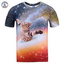 2017 Mr 1991INC New Arrivals Men women 3d t shirt print bright stars Space swirl cat