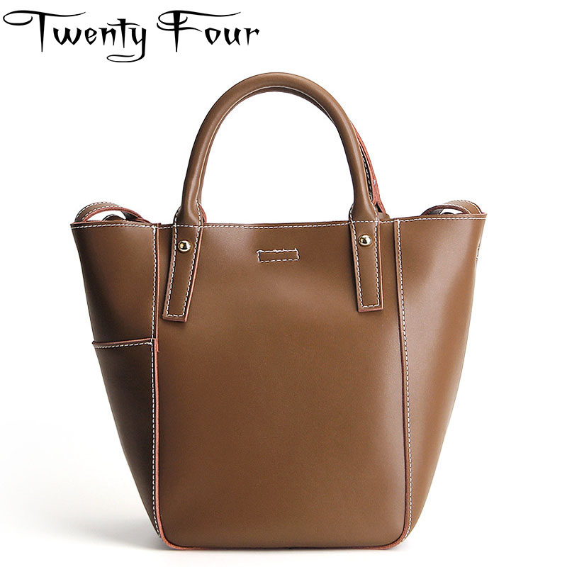 Twenty-four Women New Luxury Brand Multipurpose shoulder bag Genuine Leather Composite bag Lady Casual Handbags large-capacity brand polo genuine new women golf bag waterproof capacity lady standard ball bag embroidered package contain full set of club