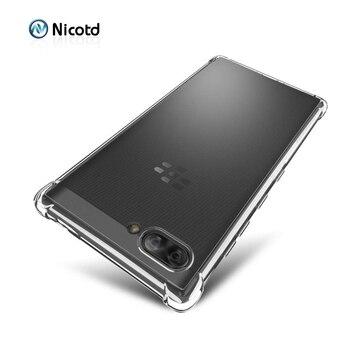 Перейти на Алиэкспресс и купить ТПУ Силиконовый противоударный чехол для Blackberry Key2 LE ультра тонкий прозрачный чехол для Blackberry Evolve X Keyone