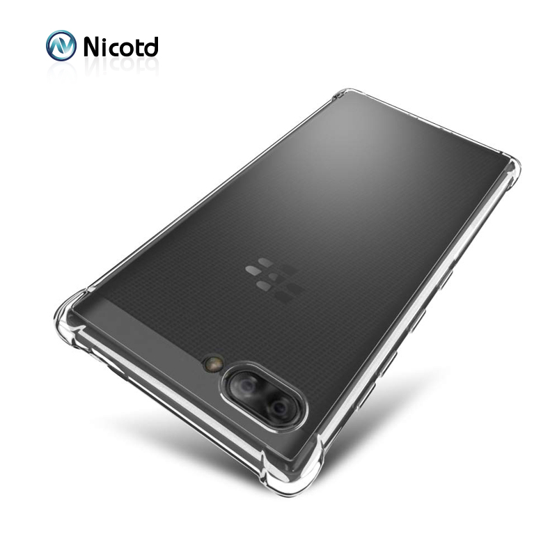 TPU Silicone Shockproof Case sFor Blackberry Key2 LE Ultra thin Clear Transparent Back cover for Blackberry Evolve X Keyone bags(China)