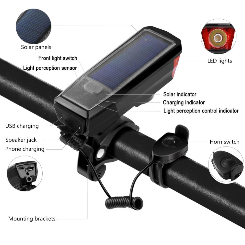 RockBros Bike Bicycle LED Light 400Lumens Headlight Rainproof USB Rechargeable