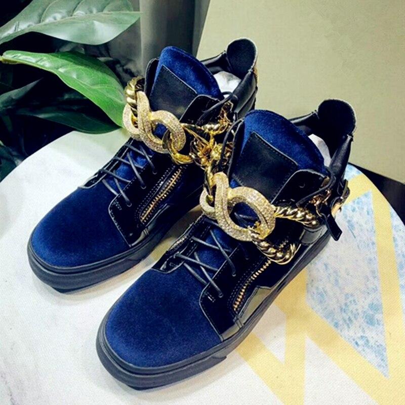 Кроссовки Обувь для Для мужчин роскошный кристалл Для мужчин повседневная обувь с высоким берцем на шнуровке кроссовки мужская обувь дышащ