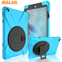 2017 Scorching Youngsters Silicone Protector Case For Apple iPad Air 2 Heavy Responsibility Rugged Sturdy Laborious kickstand Cowl For iPad 6+stylus+movie