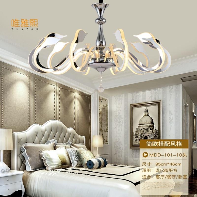Veayas Led Moderne Lustre Éclairage Nouveauté Lustre Lamparas Colgantes Lampe